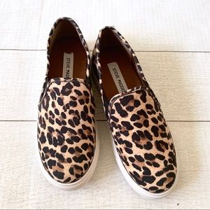 NEW Steve Madden Safary Leopard Print Slip On Shoe